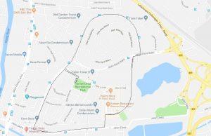 Route Map - TDRA Merdeka Fun Run/Walk 2018